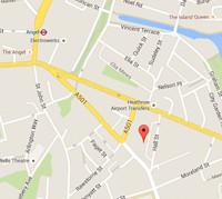 Map locating 5 Angel Gate